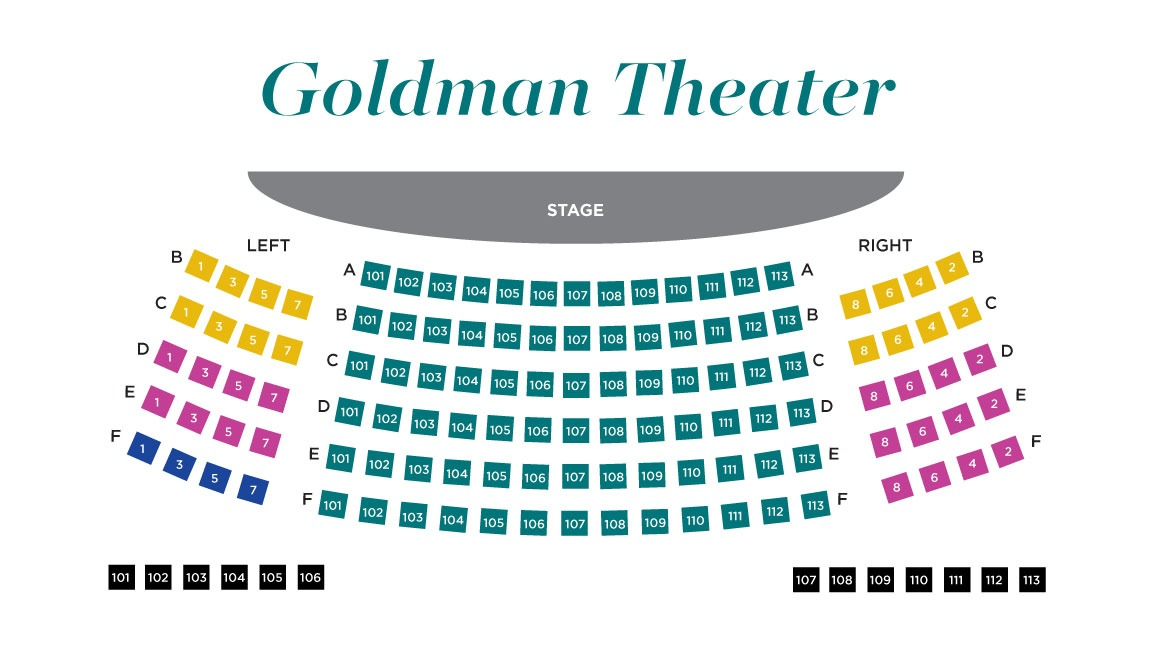 Goldman Theater Seating Map