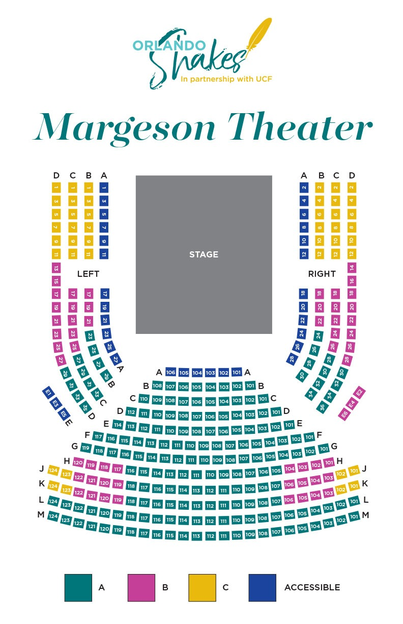 Margeson Theater Seating Map